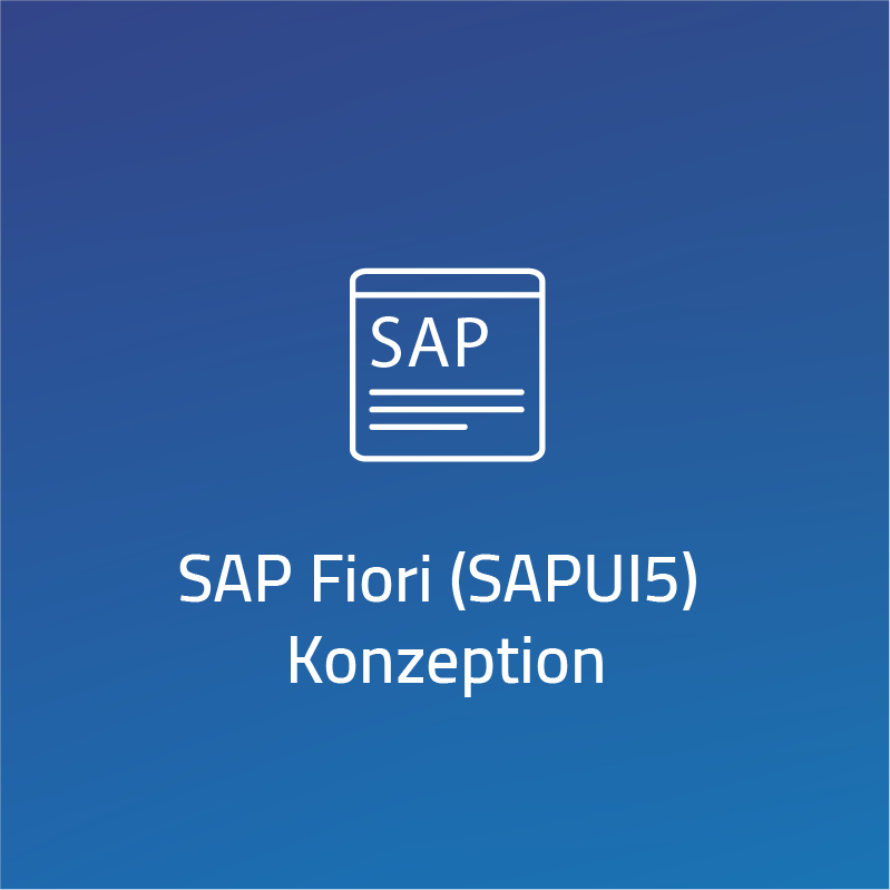 SAP Fiori (SAPUI5) Konzeption