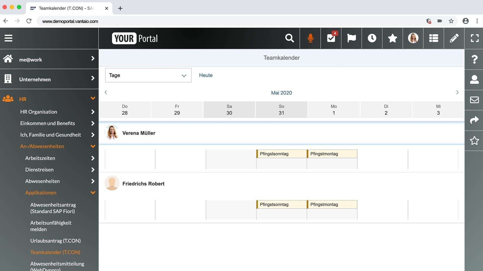 VANTAiO HR Portal auf SAP-Basis